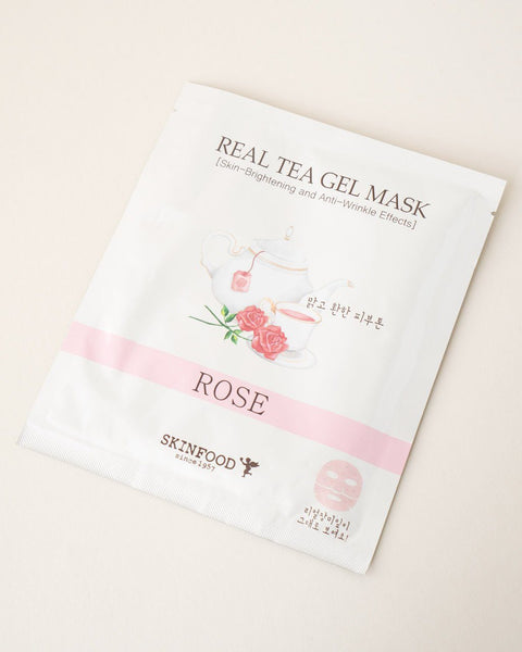 SKINFOOD Real Tea Gel Mask - Rose
