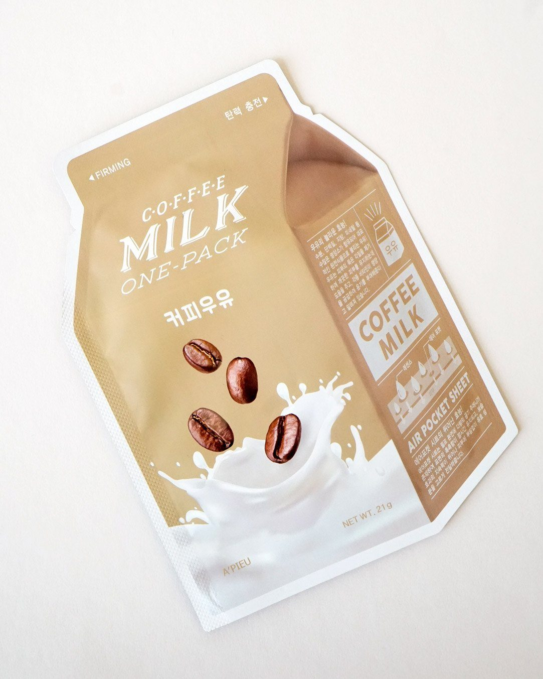 A'PIEU Coffee Milk Sheet Mask 4 Pack, sheet mask, skin care, skincare
