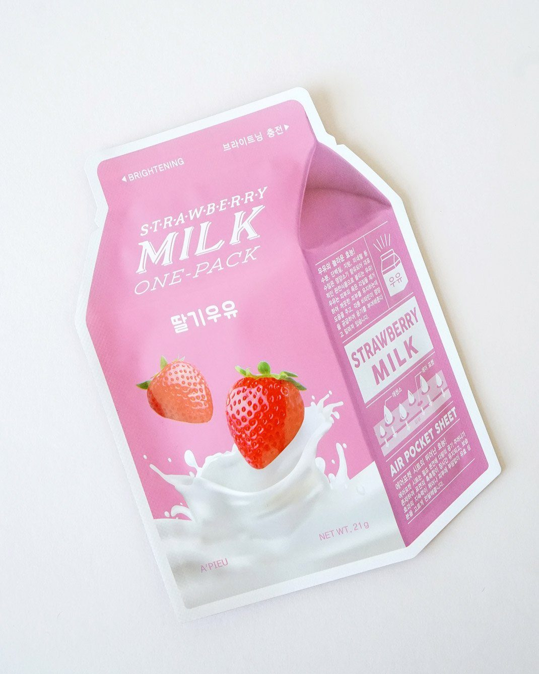 A'PIEU Strawberry Milk Sheet Mask 4 Pack, sheet mask, skin care, skincare