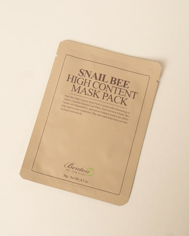 Benton Snail Bee High Content Mask, skincare, skin care, sheet mask, clean beauty