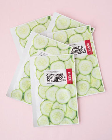 Beauty Planner Cucumber Sheet Mask Set
