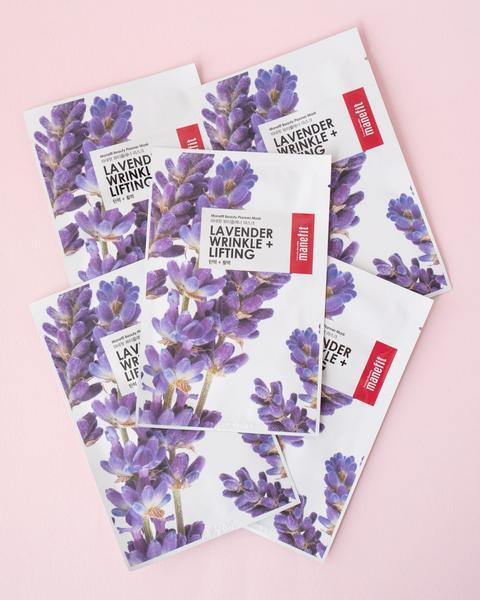 Manefit Beauty Planner Lavender Sheet Mask Set, skin care, skincare
