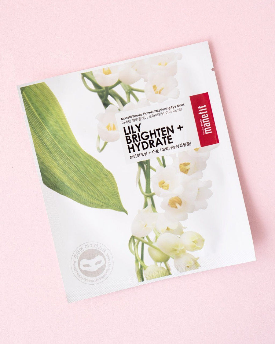 MANEFIT Beauty Planner Lily Brightening Eye Mask, sheet mask, face mask, skincare, skin care