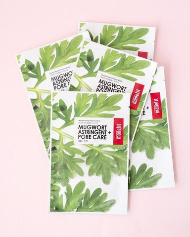 Manefit Beauty Planner Mugwort Sheet Mask Set, skincare, skin care