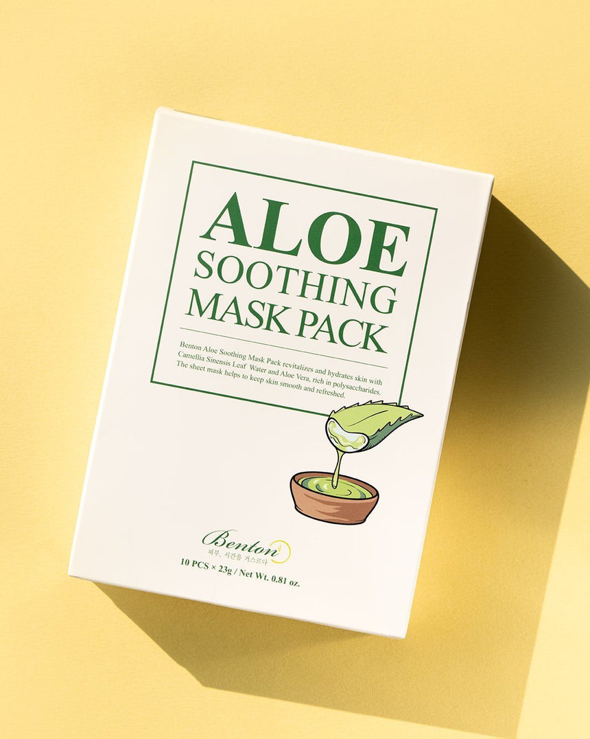 Benton, Aloe Soothing Mask Pack, skin care, skincare, sheet mask, aloe, vegan beauty, vegan skincare