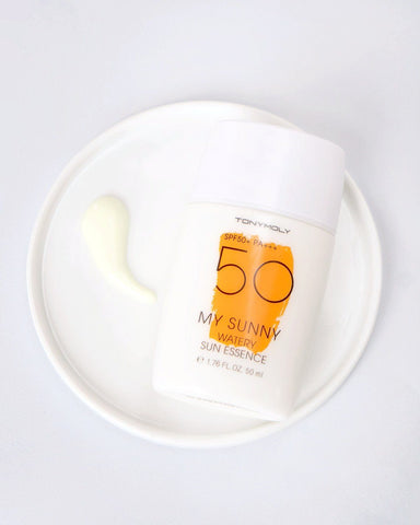 Tony Moly My Sunny Watery Essence SPF 50+ PA+++, sunscreen, skin care, skincare
