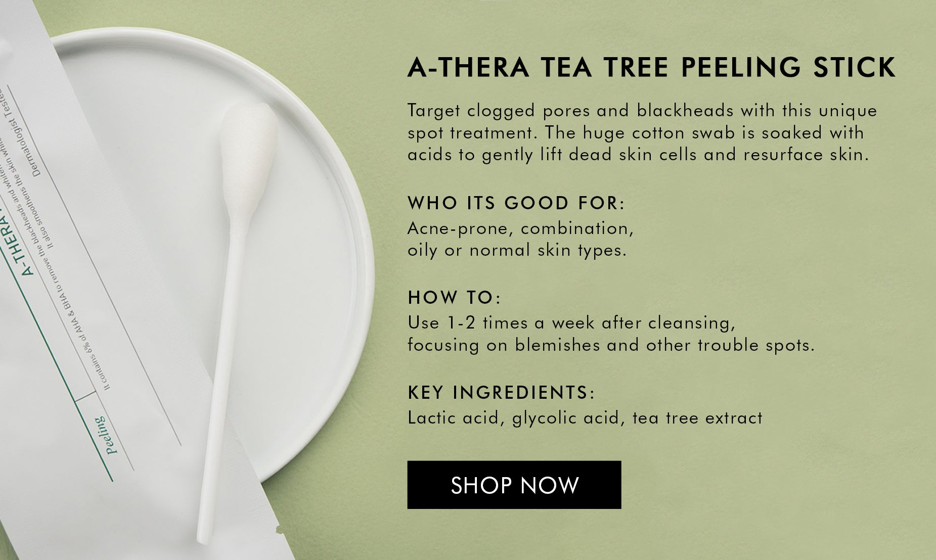 Shop A-there tea tree peeling stick