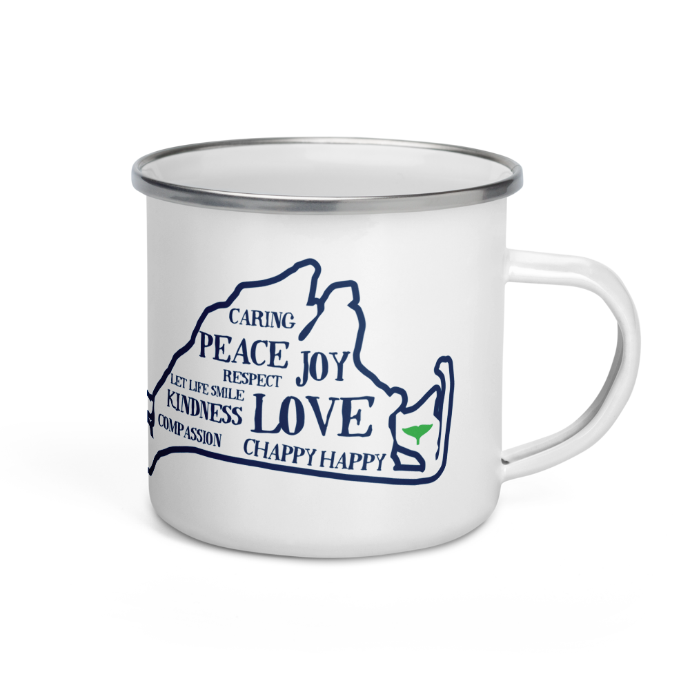 Vineyard Love Enamel Mug