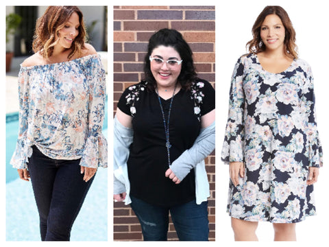Floral Plus Size Clothing at z.bella boutique