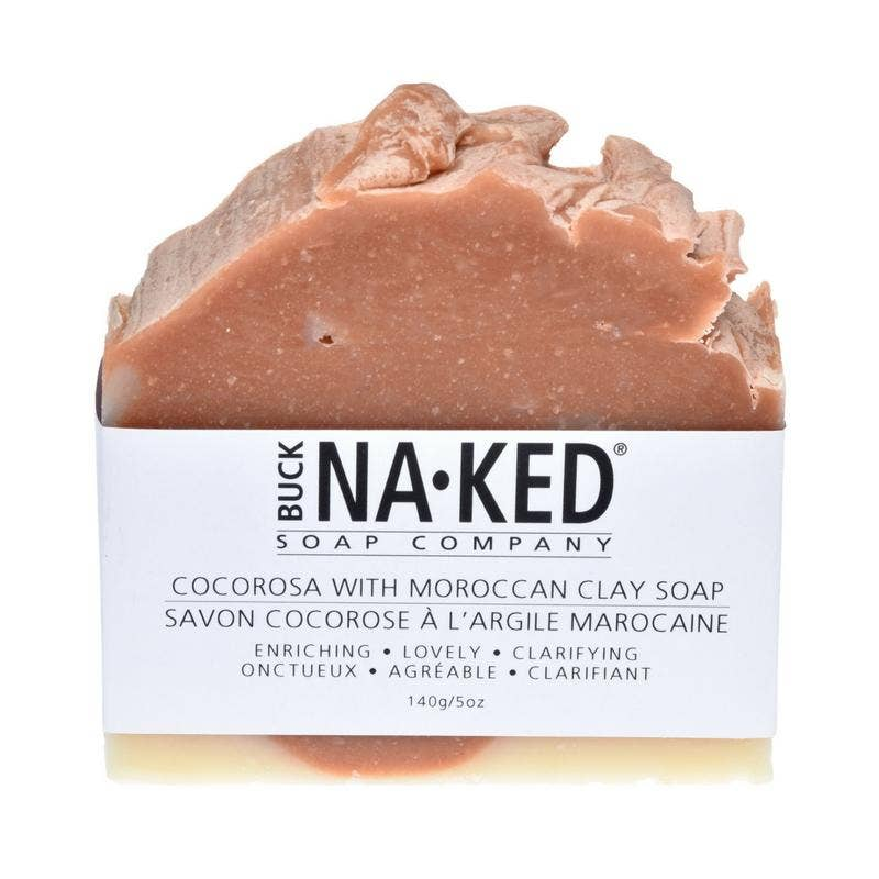 Buck Naked Soap Company - CocoRosa & Moroccan Clay Soap - 140g/5oz