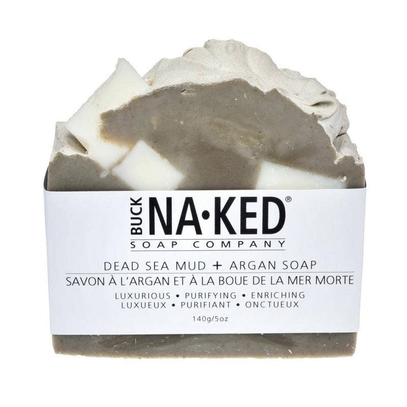Buck Naked Soap Company - Dead Sea Mud & Argan Soap - 140g/5oz