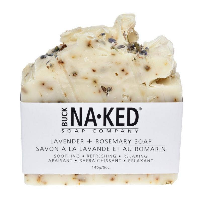 Buck Naked Soap Company - Lavender & Rosemary Soap - 140g/5oz