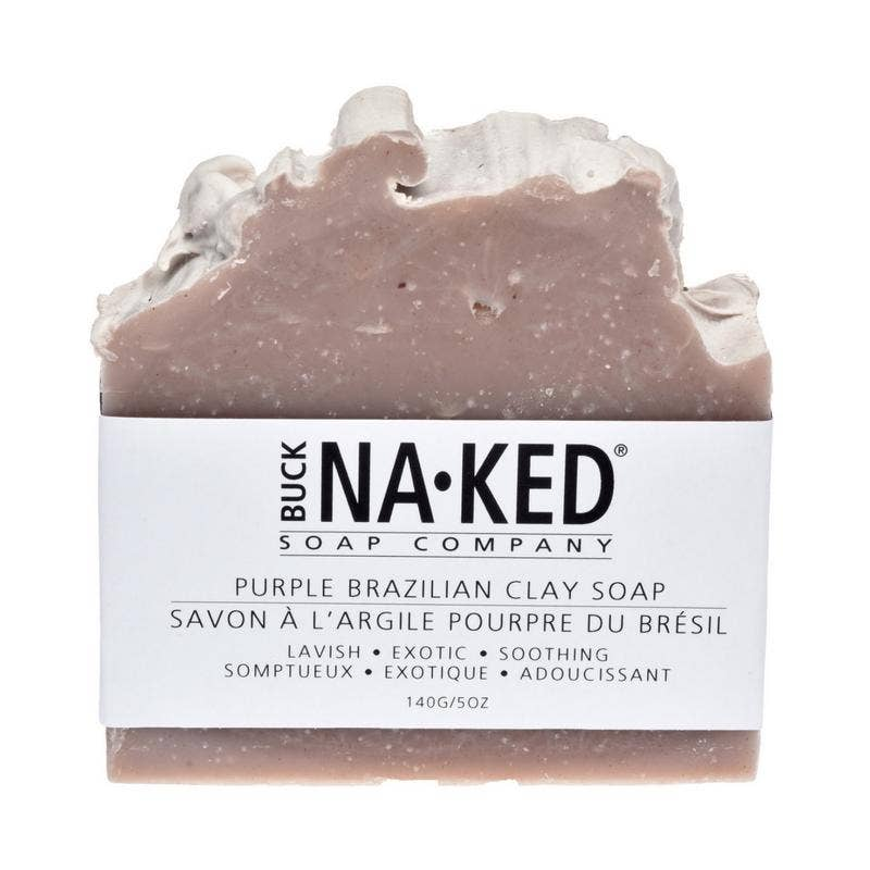 Buck Naked Soap Company - Purple Brazilian Clay Soap - 140g/5oz
