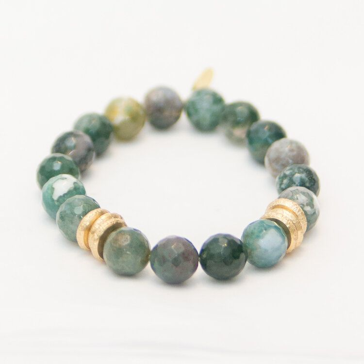 Fancy Jasper with Brass Rings