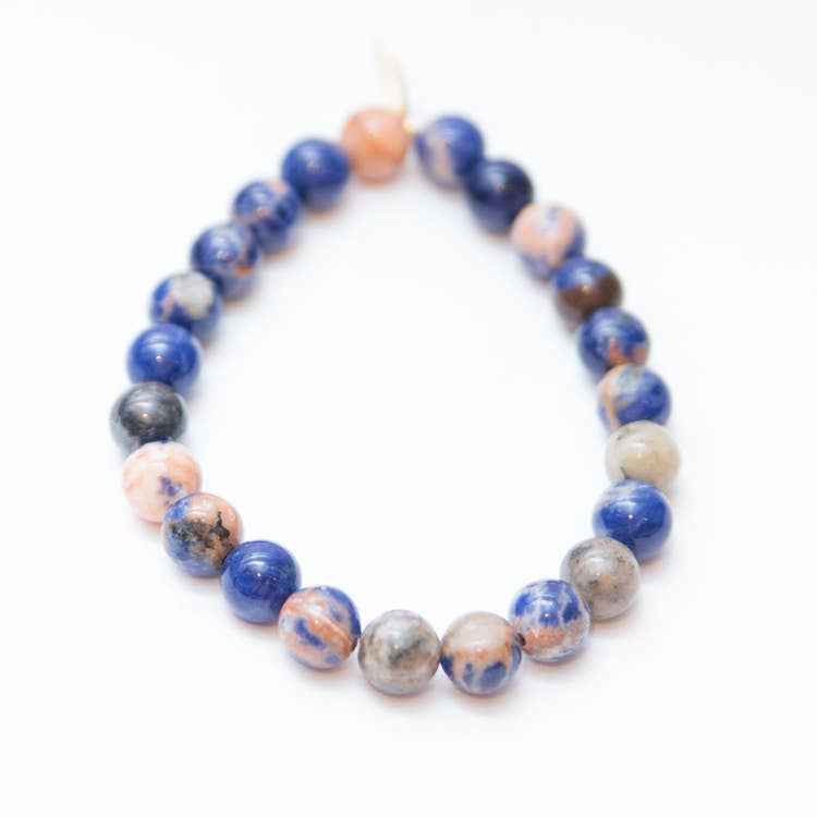 Intuition Awakening + Mental Clarity 8mm Sodalite