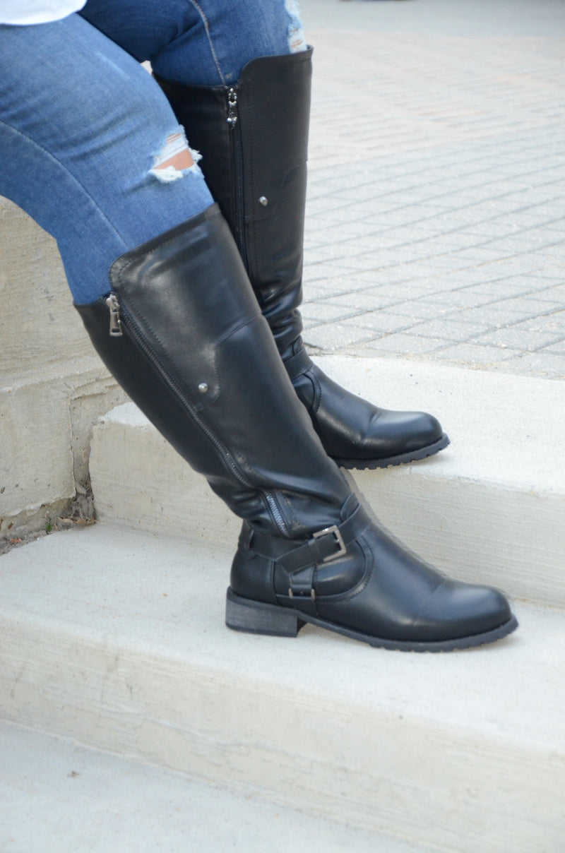 Chrissy Wide Calf Boots