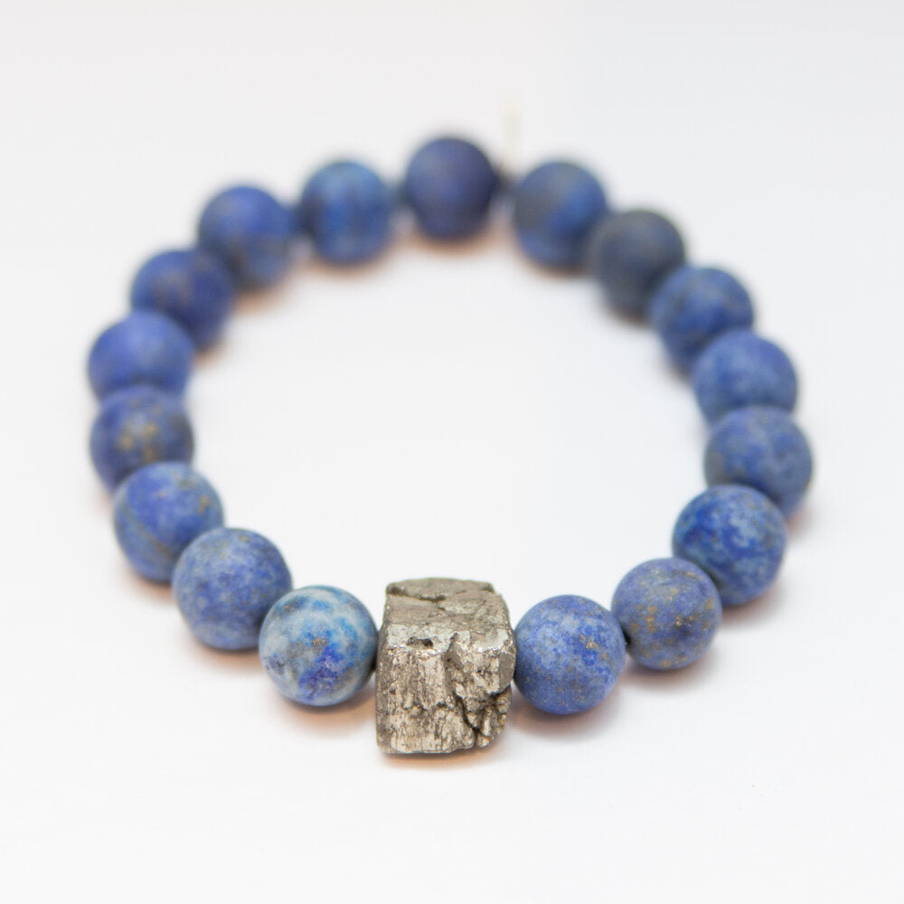 Stress Relief + Negative Energy Blocking Lapis Lazuli + Pyrite Center Stone