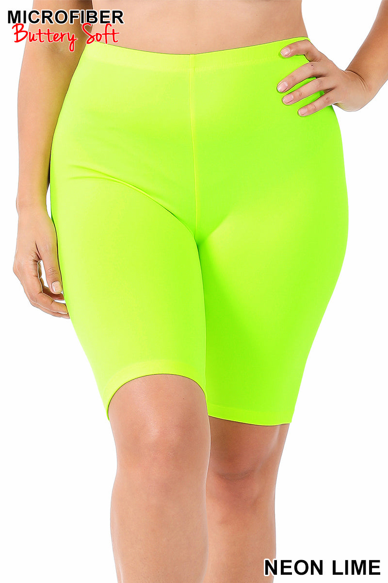 Bright Butter Soft Biker Shorts