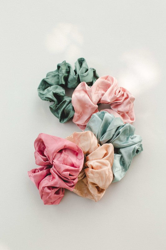 Poufy Satin Scrunchie