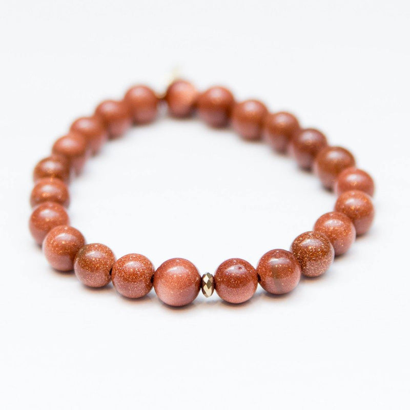Ambition + Confidence Burnt Goldstone + Brass Sparkle Bead
