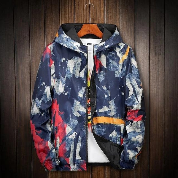 ludacris windbreaker red orange blue