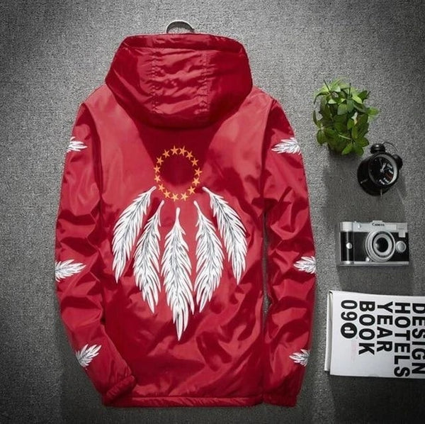 nataga windbreaker red back