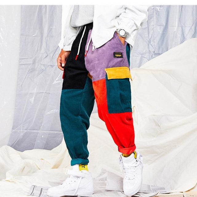Multi 'Retro Patchwork' Pants