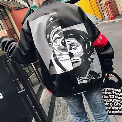 'Rising Jester' Bomber Jacket Full Back View