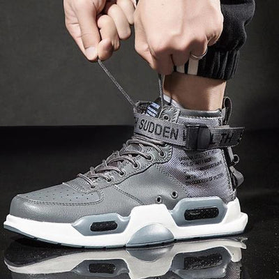 Gray 'Sudden Wealth' Sneaker