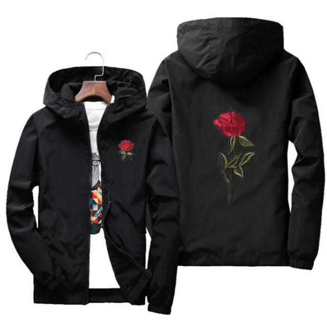 Black 'Rose' Windbreaker