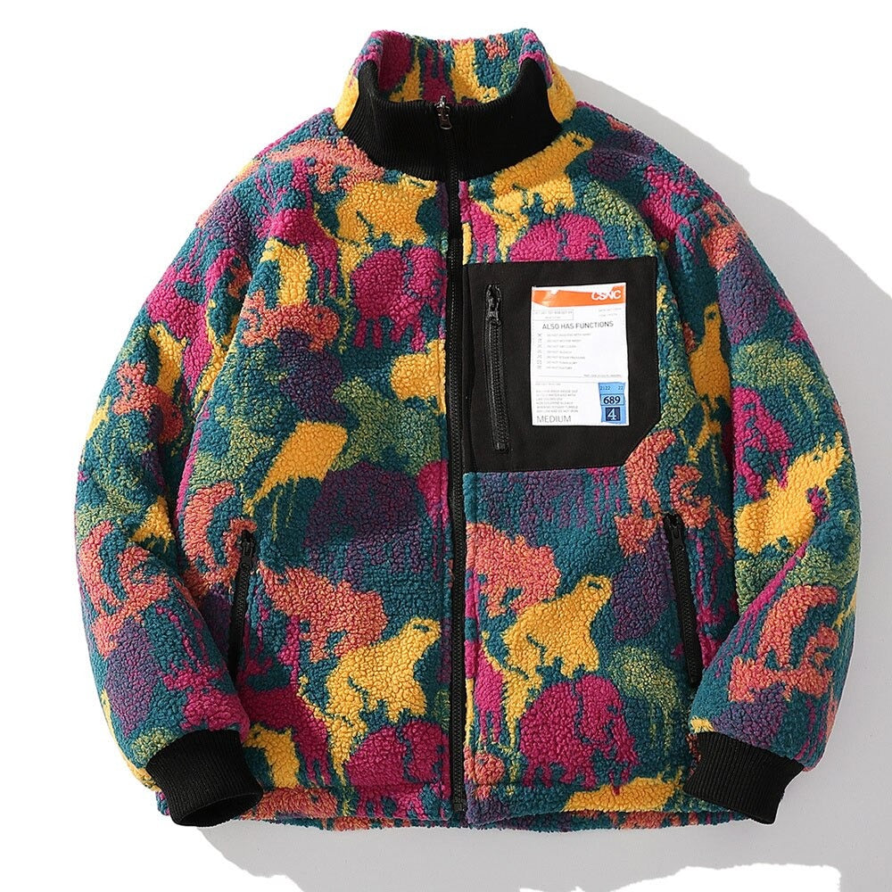 Colorful Reversible Fleece Sweatshirt