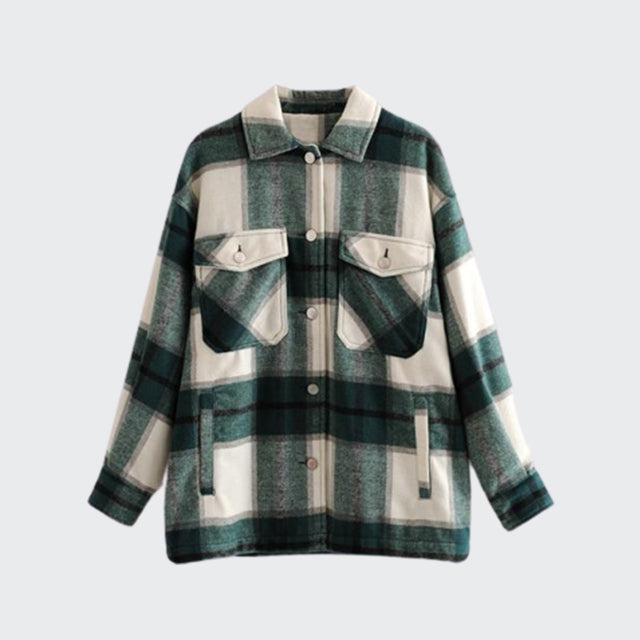 """Forrowind"" Plaid Top"