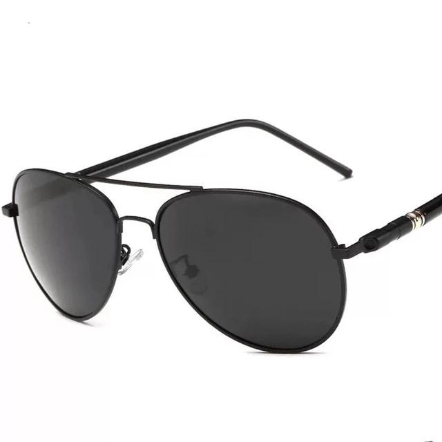 Black 'Aviator' Sunglasses