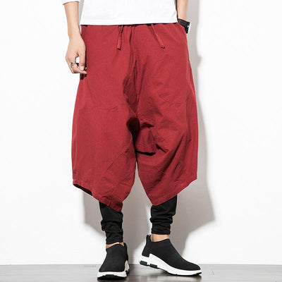 Wine Red Orion Harem Pants full