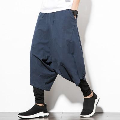Navy Blue Orion Harem Pants Full