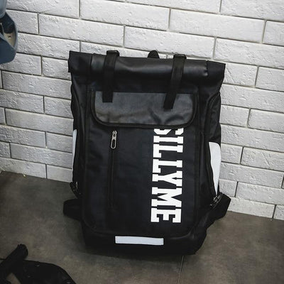 Black 'Silly Me' Backpack Bag
