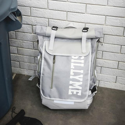 Gray 'Silly Me' Backpack Bag