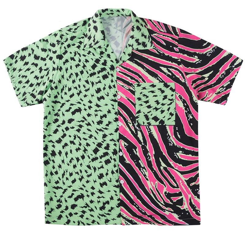 'Neon Zebra' Hawaiian Shirt