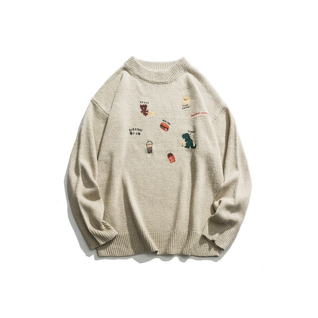 Quirky Animal & Friends Sweater