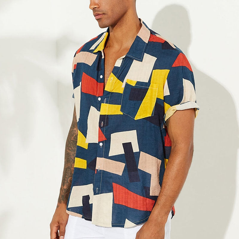 'Geometric' Hawaiian Shirt