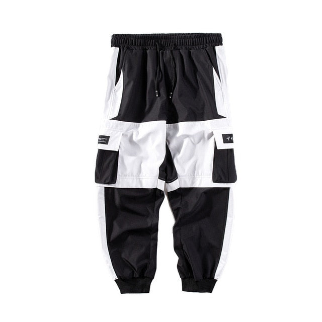 Black and White Cargo Pants
