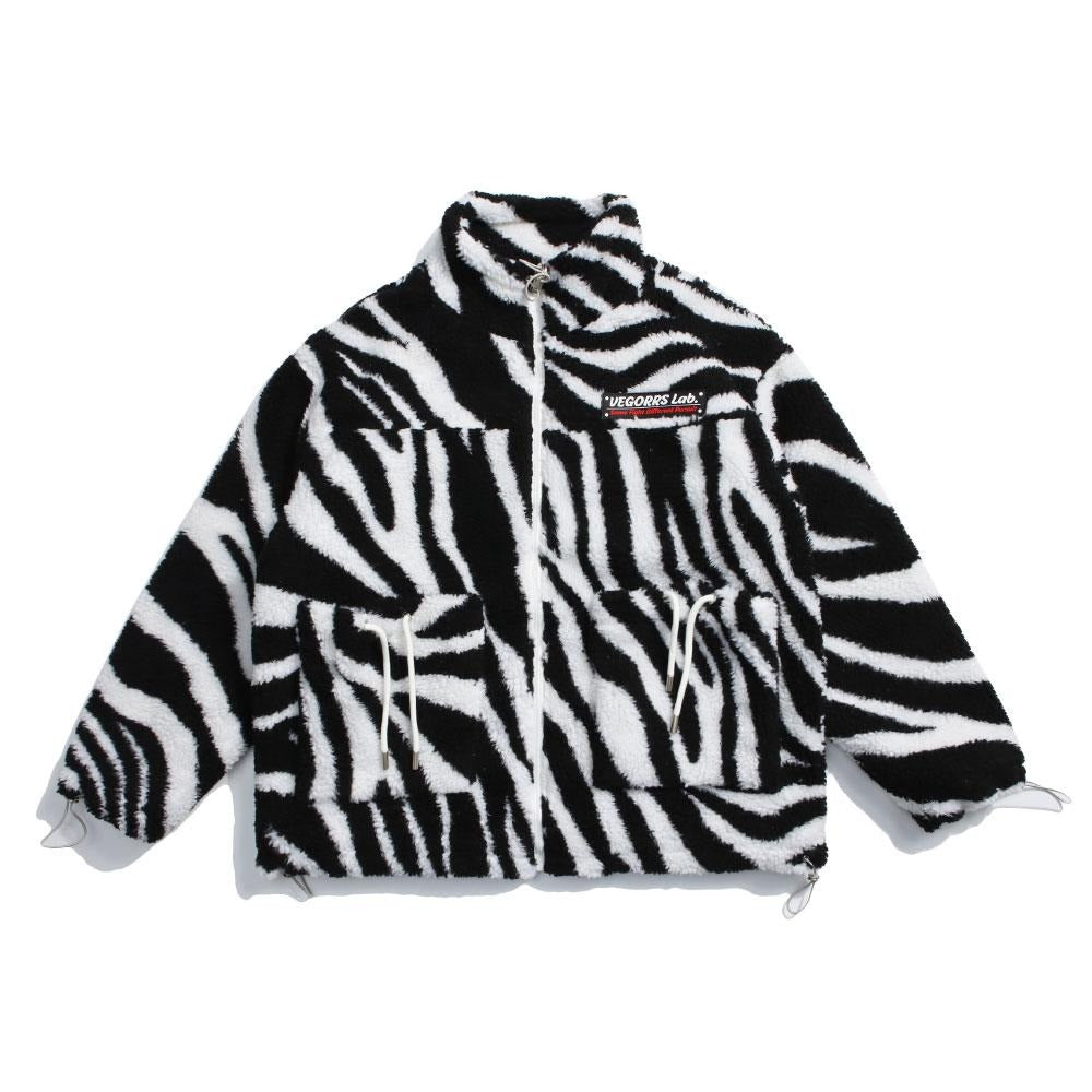 Zebra Print Fleece Jacket