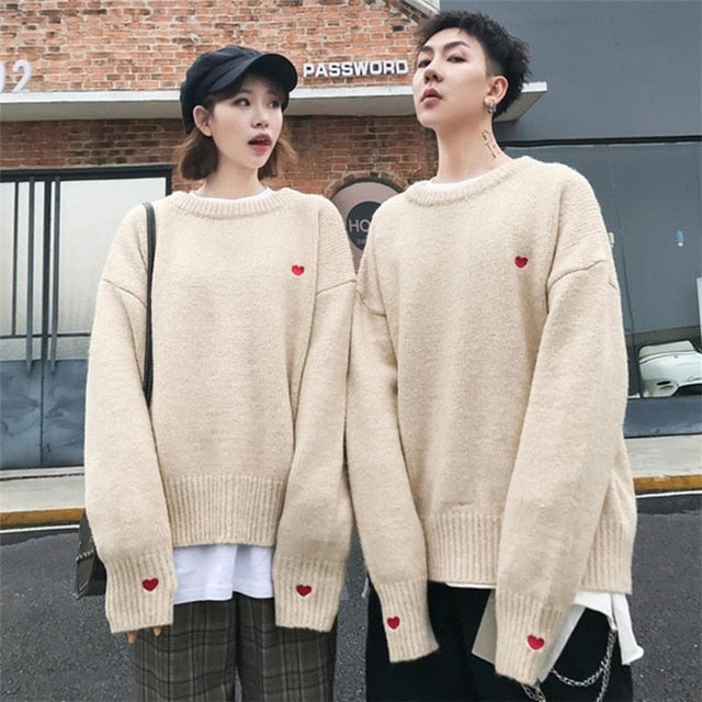 Heart Heart Couple Sweaters