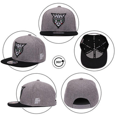 Different Views of 'Fractal Assassin' Snapback Cap