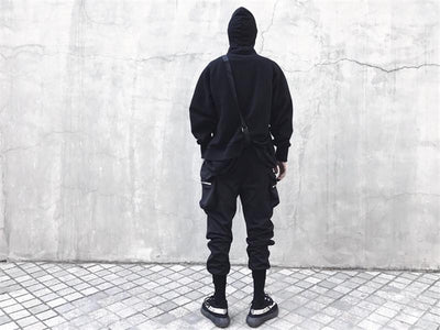 Black 'Super Skinny' Joggers Back View