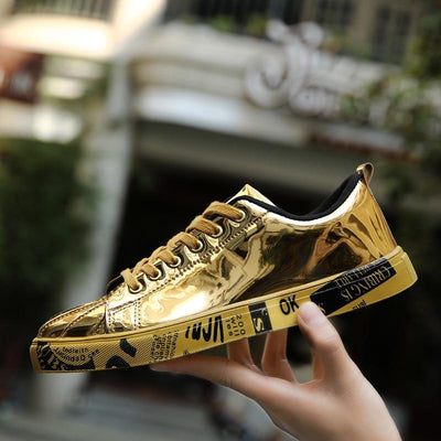 'Midas Touch' Sneakers Gold Shoe