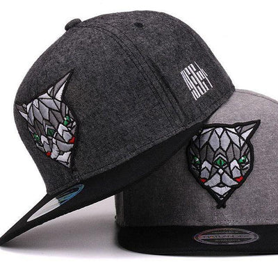 Black and Gray 'Fractal Assassin' Snapback Cap