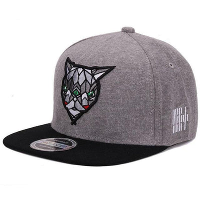 Gray 'Fractal Assassin' Snapback Cap