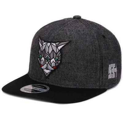 Black 'Fractal Assassin' Snapback Cap