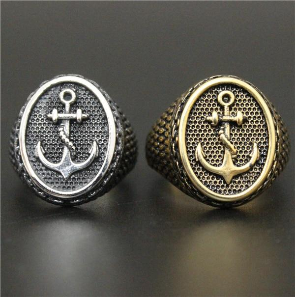 Gold and Silver 'Anchor' Rings